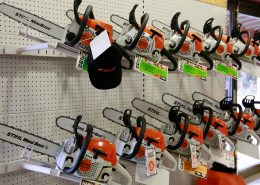 Stihl chainsaws display