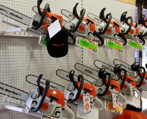 Stihl chainsaws display